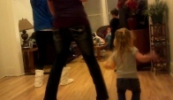 Alexis Miranda and Cecilia doing the Wobble dance