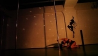 Eva Bembo Exotic Pole dance closed eyes