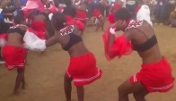 Girls doing traditional Zulu dance