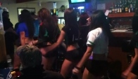 Grill Girls Dancing the Wobble