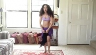Learn to belly dance piston hip drops