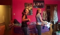 Michelle and I doing the Wobble dance by V I C