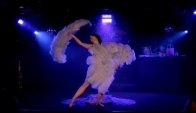 Miss Indigo Blue Triple Fan Dance Burlesque Act