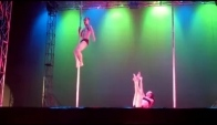 Miss Pole Dance Medellin espectacular duo pin up girls