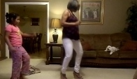 Mom Doing The Wobble Dance