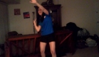 My roomie doing the wobble dance