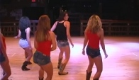Round Up Line Dancers Perform The Wobble Dance