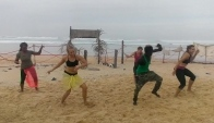 Sabar dance practice in beach