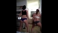 Teen dancing amateur twerk dance
