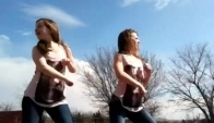 Two hot girls dancing to the wobble