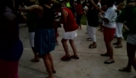 White folks doing the wobble dance lol